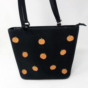 Sandol Wipe able Black Pumpkin  Purse Bag